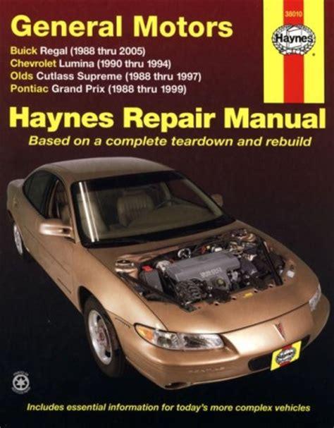 car repair manuals online pdf 1985 pontiac grand prix engine control download haynes repair manual general motors buick regal 88 05 chevrolet lumina 90 94 olds