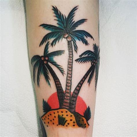 palm trees tattoo 50 superb palm tree designs and meaning