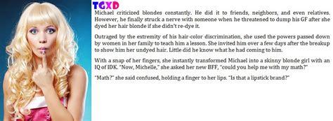 tg caption blonde girl dumb blondes caption 60 by tgxd fan on deviantart