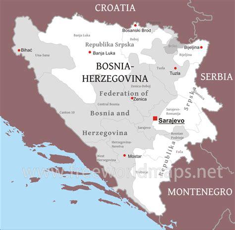 map of bosnia bosnia political map