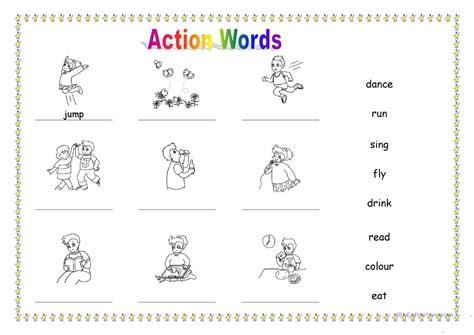 esl worksheets for kindergarten geersc action verbs worksheet geersc
