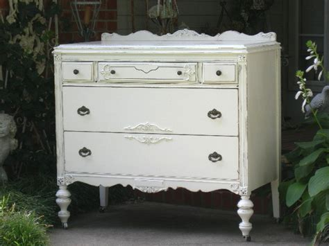 White Lowboy Dresser by Spectacular Shabby Dresser Lowboy Chest Chic Paint