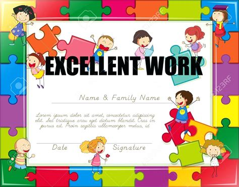 children s certificate template template childrens certificate template award