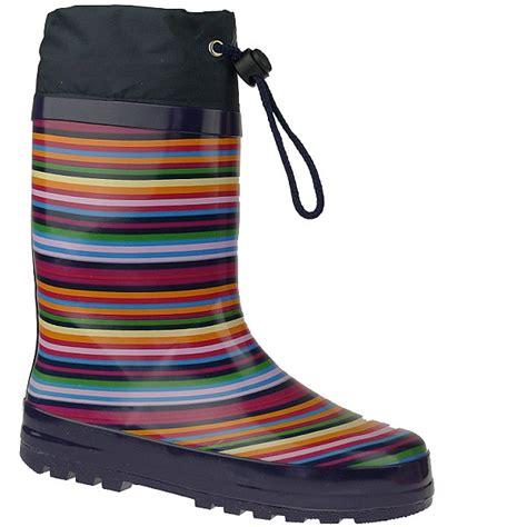 Zipper Boots By Guten Inc indigo rainboots strips gummistiefel im lustigen