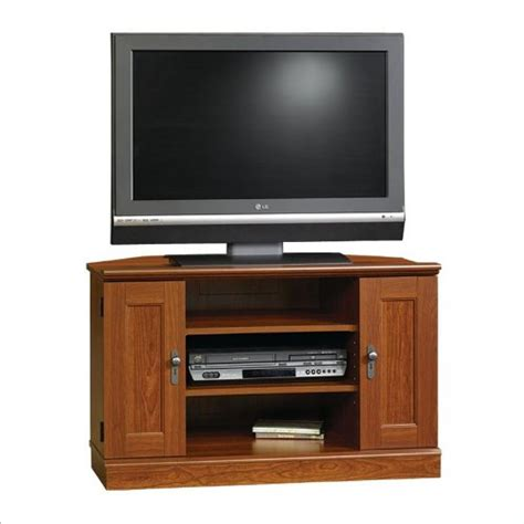 Cheap Tv Rack by Cheap Sauder Camden County Corner Tv Stand Planked