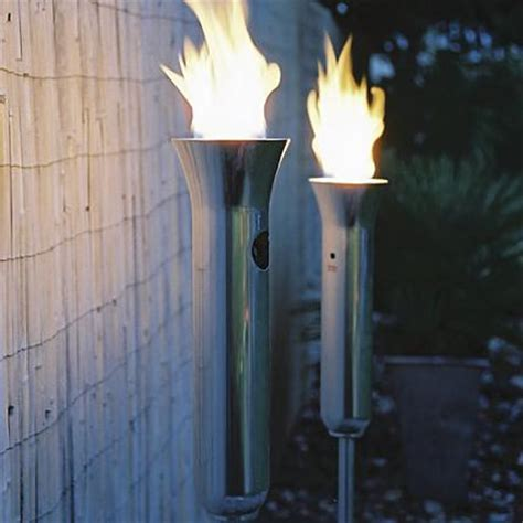 backyard torches lanterns contempo garden torch contemporary outdoor lighting by frontgate