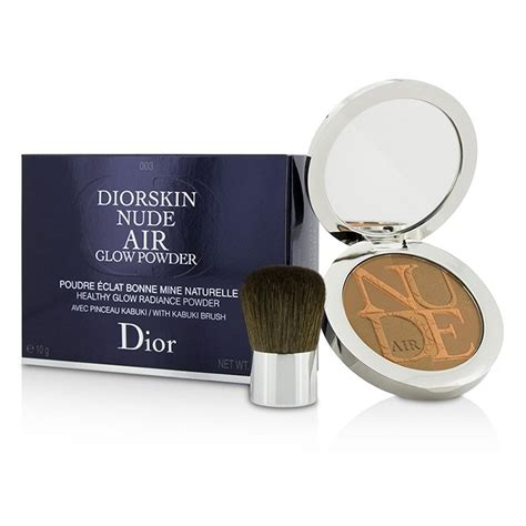 Diorskin Air Powder Include Kabuki Brush diorskin air healthy glow radiance powder with kabuki brush 003 warm christian