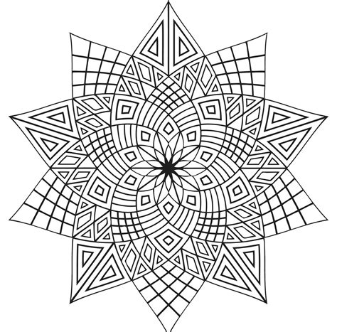 free coloring pages kaleidoscope designs simple kaleidoscope coloring pages allmadecine weddings