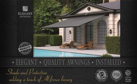 elegant awnings elegant awnings uk quality patio awnings fully fitted