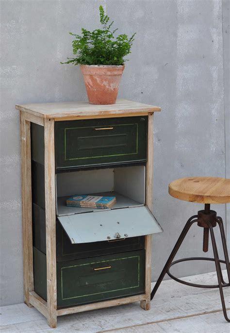 vintage pull  metal filing drawer cabinet home barn