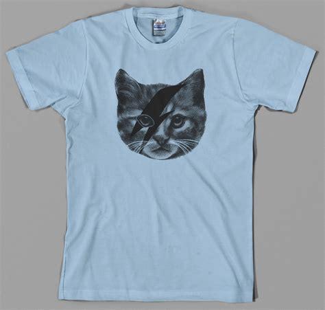 T Shirt I Cats ziggy stardust cat t shirt david bowie kitten i