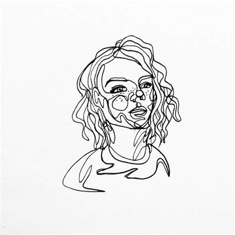 line drawing continuous line drawing of nomi the link