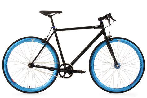 fitness bike fixie fitnessbike fixed gear pegado schwarz blau rh 59 cm