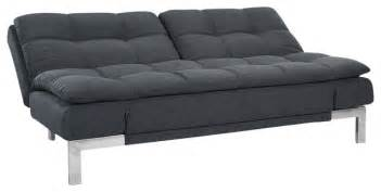 lifestyle solutions futon lifestyle solutions boca convertible sofa charcoal