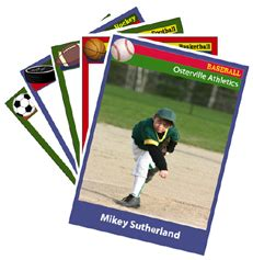 softball trading card free template sport cards blank printable templates