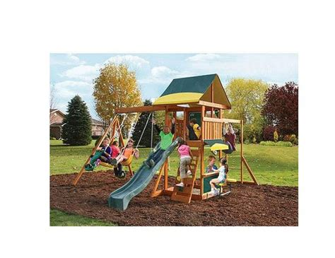 childrens wooden swings and slides wooden swing set kids playground slide outdoor backyard