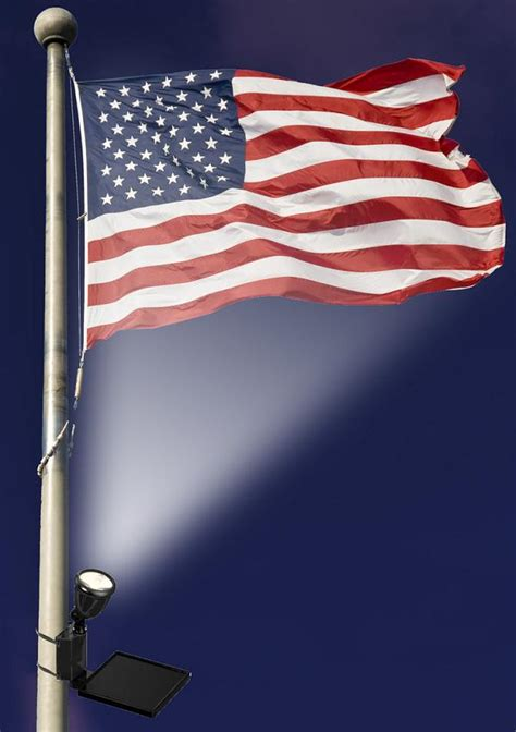 Solar Powered Flag Light With Super Bright Led Solar Powered Flag Lights
