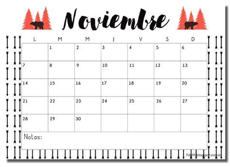 Calendario 2017 Noviembre Calendario Para Noviembre Listo Para Descargar Gratis