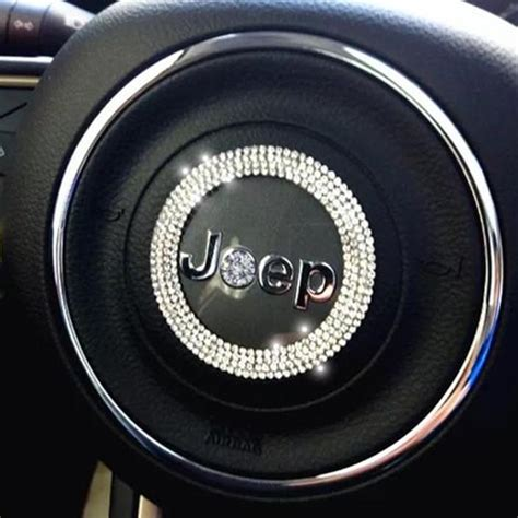 jeep steering wheel emblem bling jeep emblem decal for steering wheel logo sticker