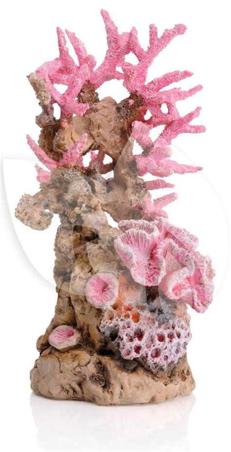roze aquarium decoratie biorb ornament koraalrif roze aquarium decoratie