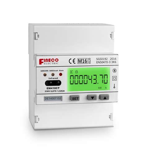 induction kwh energy meter em418 ct single phase multi function digital energy meters modbus kvar kwh meter induction watt