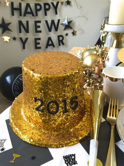 diy new years hats easy diy new years glitter hat the of swag
