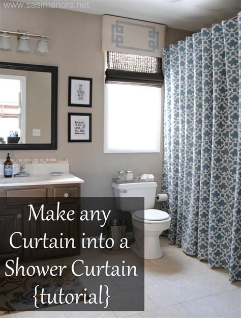 shower curtain tutorial shower curtains make any curtain into a shower curtain