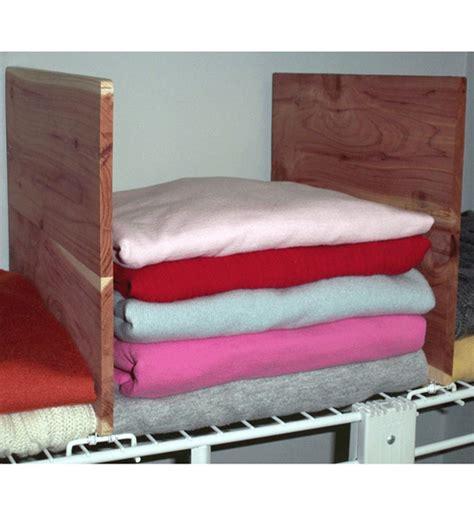 Closet Shelf Dividers by Closet Shelf Dividers Cedar Set Of 2 In Shelf Dividers