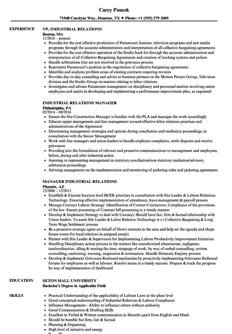 Labor Relations Specialist Cover Letter by Labor Relations Specialist Sle Resume Hris Specialist Sle Resume Dietitian Specialist