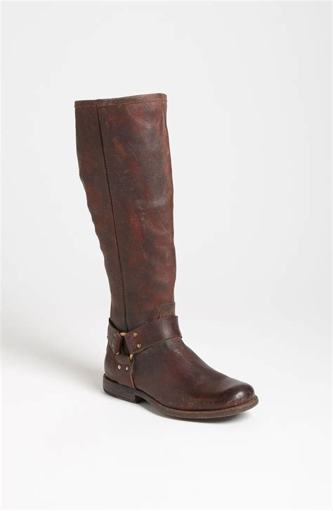 frye boots frye phillip harness boot in brown brown lyst