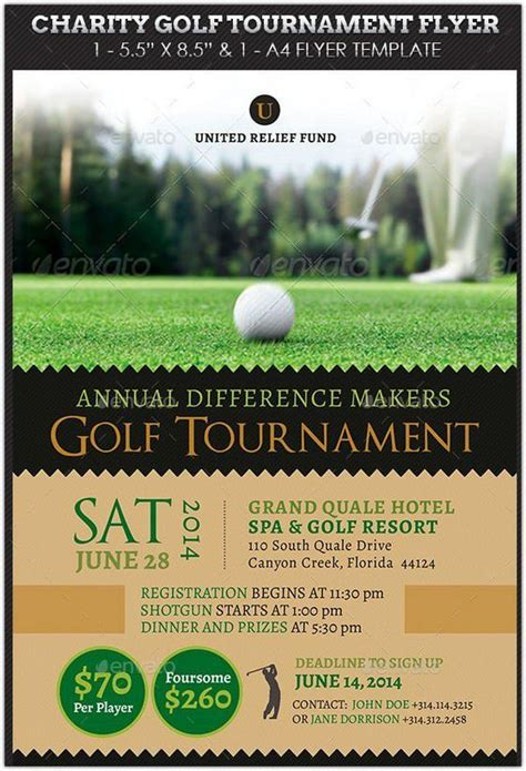 Charity Golf Tournament Flyer Hd 2 New Hd Template Images Work Pinterest Golf Golf Tournament Invitation Template Free
