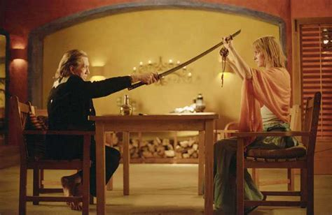 in kill bill why does umas hair go from short to long kill bill the whole bloody affair a special screening