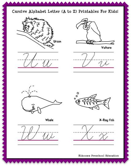 cursive letters chart writing alphabet worksheet new calendar template 1174