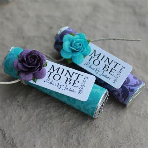 Wedding Favors Mints by Purple Wedding Favor Edible Wedding Favor Mint To Be
