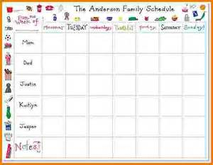 8 family weekly schedule template financial statement form