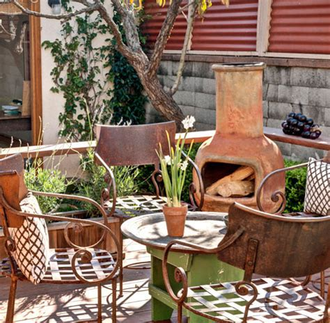 chiminea patio ideas chiminea cozy and warm seating outside small garden