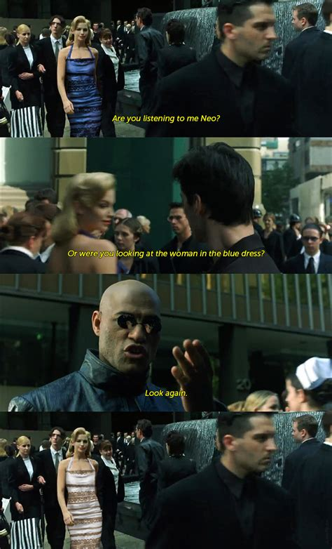 Matrix Meme - the matrix thedress what color is this dress know