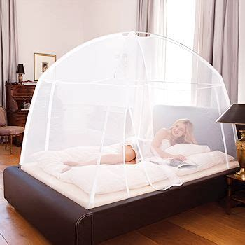 styling mosquito net around your bed protection