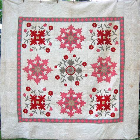 Fleur De Lis Quilt Pattern by Berks Or Northwestern Lehigh Co Pa Ca 1910 This