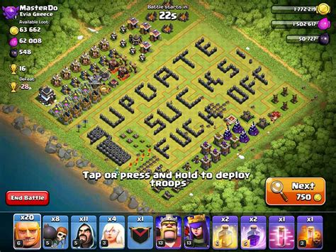update layout coc clash of clans archer queen and healers farming strategy