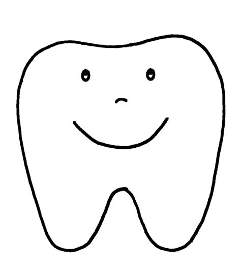 template of a tooth dental health and teeth coloring pages barriee