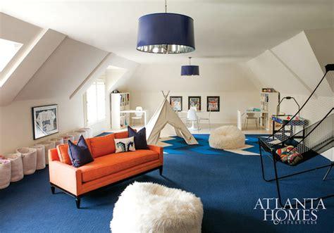 White Livingroom Furniture Orange Sofa Contemporary Boy S Room Atlanta Homes