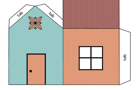 printable house cut out house cutout craft coloring page print color fun