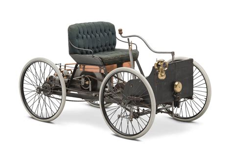 first car ever made with engine 1896 ford quadricycle runabout first car built by henry f