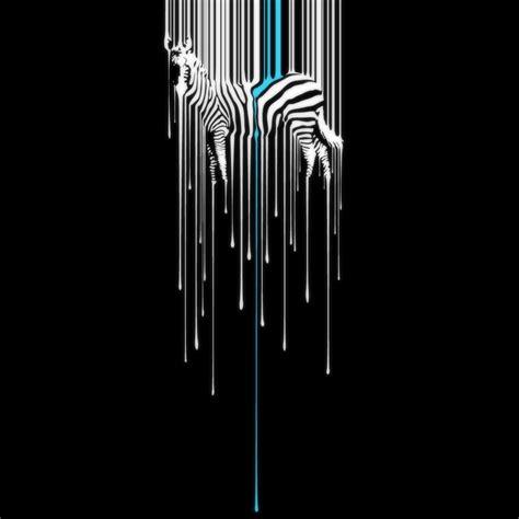 zebra melting background ipad wallpaper  iphone