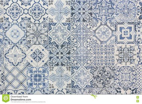 retro pattern wall tiles pattern of vintage style wall tile texture stock photo