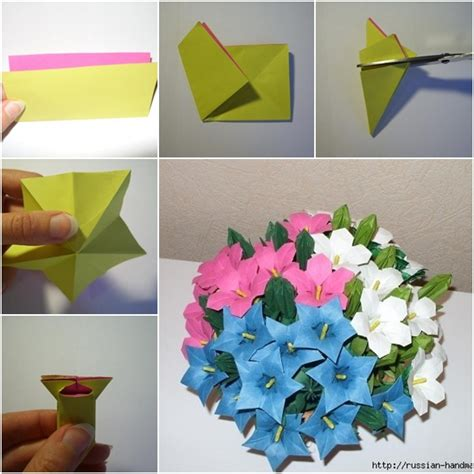 Easy Origami Flower Bouquet - diy beautiful paper origami flower bouquet fab diy