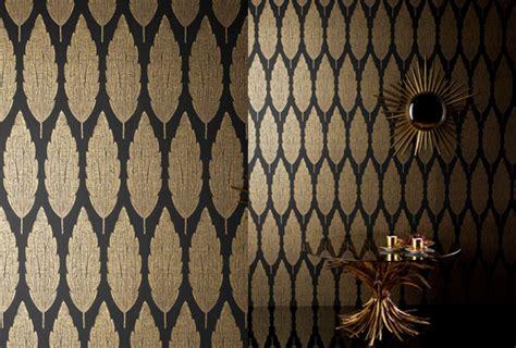 Black Gold Wallpaper Uk | nina cbell perroquet cypres gold and black ncw3834 03