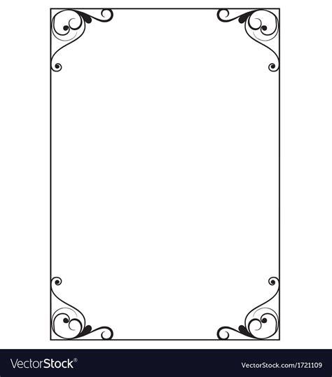 decorative drawing borders decorative page border royalty free vector image