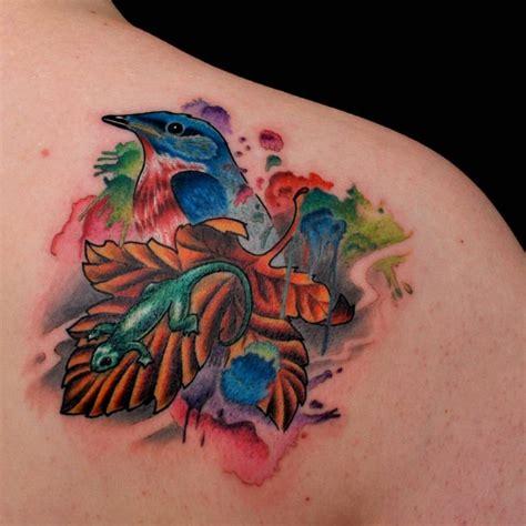 new school lizard tattoo great lizard pictures tattooimages biz